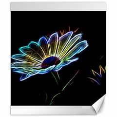 Flower Pattern Design Abstract Background Canvas 20  X 24