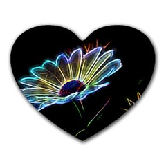 Flower Pattern Design Abstract Background Heart Mousepads