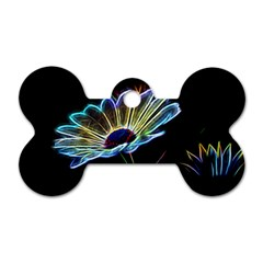 Flower Pattern Design Abstract Background Dog Tag Bone (two Sides)