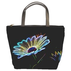 Flower Pattern Design Abstract Background Bucket Bags
