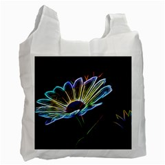 Flower Pattern Design Abstract Background Recycle Bag (one Side)