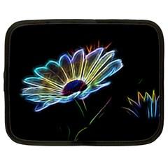 Flower Pattern Design Abstract Background Netbook Case (xxl)