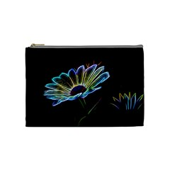 Flower Pattern Design Abstract Background Cosmetic Bag (medium)