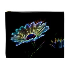 Flower Pattern Design Abstract Background Cosmetic Bag (xl)