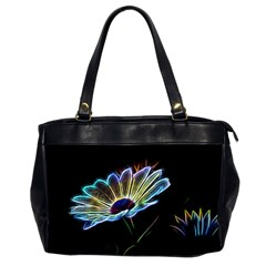 Flower Pattern Design Abstract Background Office Handbags (2 Sides)