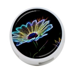 Flower Pattern Design Abstract Background 4-Port USB Hub (One Side)