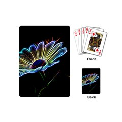 Flower Pattern Design Abstract Background Playing Cards (mini)