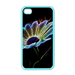 Flower Pattern Design Abstract Background Apple Iphone 4 Case (color)