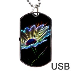 Flower Pattern Design Abstract Background Dog Tag Usb Flash (one Side)
