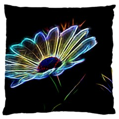 Flower Pattern Design Abstract Background Large Cushion Case (one Side)