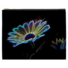 Flower Pattern Design Abstract Background Cosmetic Bag (xxxl)