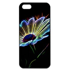 Flower Pattern Design Abstract Background Apple Iphone 5 Seamless Case (black)