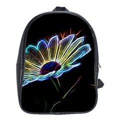 Flower Pattern Design Abstract Background School Bags (xl)