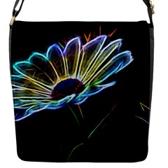 Flower Pattern Design Abstract Background Flap Messenger Bag (s)