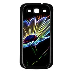 Flower Pattern Design Abstract Background Samsung Galaxy S3 Back Case (black)
