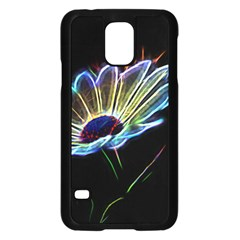 Flower Pattern Design Abstract Background Samsung Galaxy S5 Case (black)