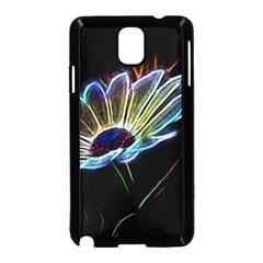 Flower Pattern Design Abstract Background Samsung Galaxy Note 3 Neo Hardshell Case (black)