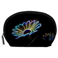 Flower Pattern Design Abstract Background Accessory Pouches (large)