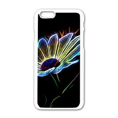Flower Pattern Design Abstract Background Apple Iphone 6/6s White Enamel Case