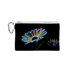 Flower Pattern Design Abstract Background Canvas Cosmetic Bag (s)