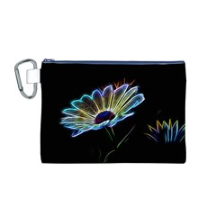 Flower Pattern Design Abstract Background Canvas Cosmetic Bag (m)