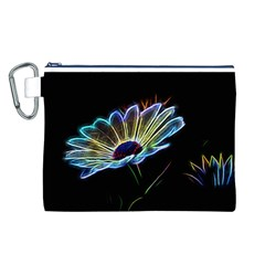 Flower Pattern Design Abstract Background Canvas Cosmetic Bag (l)