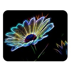 Flower Pattern Design Abstract Background Double Sided Flano Blanket (large)
