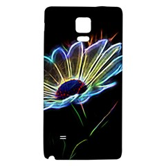Flower Pattern Design Abstract Background Galaxy Note 4 Back Case
