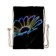Flower Pattern Design Abstract Background Drawstring Bag (small)