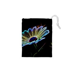 Flower Pattern Design Abstract Background Drawstring Pouches (xs)