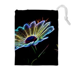 Flower Pattern Design Abstract Background Drawstring Pouches (extra Large)