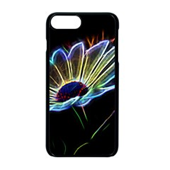 Flower Pattern Design Abstract Background Apple Iphone 7 Plus Seamless Case (black)