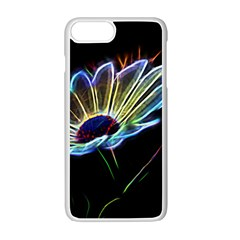 Flower Pattern Design Abstract Background Apple Iphone 7 Plus White Seamless Case