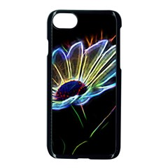 Flower Pattern Design Abstract Background Apple Iphone 7 Seamless Case (black)