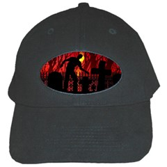 Horror Zombie Ghosts Creepy Black Cap