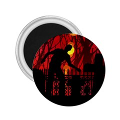 Horror Zombie Ghosts Creepy 2 25  Magnets