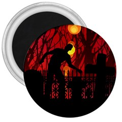 Horror Zombie Ghosts Creepy 3  Magnets