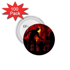 Horror Zombie Ghosts Creepy 1.75  Buttons (100 pack)