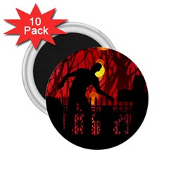 Horror Zombie Ghosts Creepy 2 25  Magnets (10 Pack)