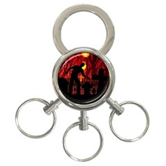 Horror Zombie Ghosts Creepy 3 Ring Key Chains