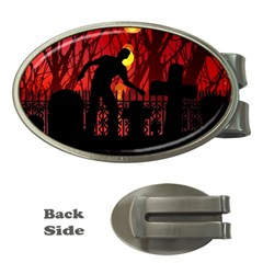 Horror Zombie Ghosts Creepy Money Clips (Oval)