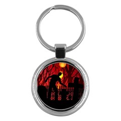 Horror Zombie Ghosts Creepy Key Chains (Round)
