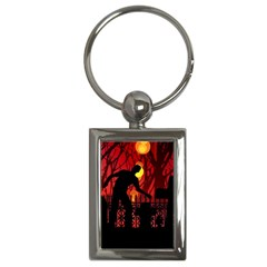 Horror Zombie Ghosts Creepy Key Chains (rectangle)
