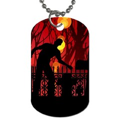 Horror Zombie Ghosts Creepy Dog Tag (one Side)