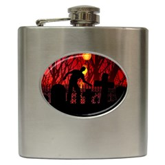 Horror Zombie Ghosts Creepy Hip Flask (6 Oz)