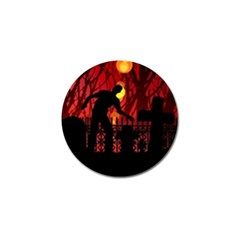 Horror Zombie Ghosts Creepy Golf Ball Marker (4 Pack)