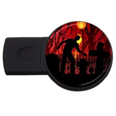 Horror Zombie Ghosts Creepy Usb Flash Drive Round (2 Gb)
