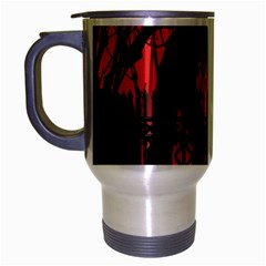 Horror Zombie Ghosts Creepy Travel Mug (silver Gray)