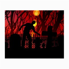 Horror Zombie Ghosts Creepy Small Glasses Cloth