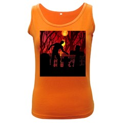 Horror Zombie Ghosts Creepy Women s Dark Tank Top